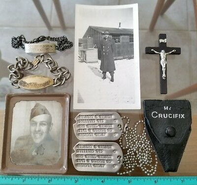 320th Squadron World War II Army Air Force Group ID Dog Tag Bracelets Photomatic