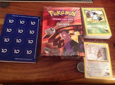 Giovanni Gym Challenge Theme Deck, In Sleeves, Near Mint, No Energy