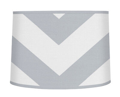 Gray And White Zigzag Lamp Shade For Sweet Jojo Chevron Bedding Set Lampshade