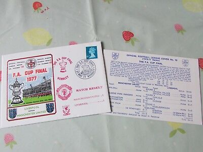 MANCHESTER United v LIVERPOOL 1977 FAC Final Wembley FOOTBALL First Day Cover