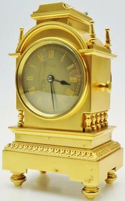 Rare Small Antique 8 Day French Bronze Ormolu Combination Striking Mantel Clock