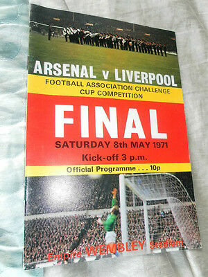 1971 Fa Cup Final Arsenal V Liverpool Double Season