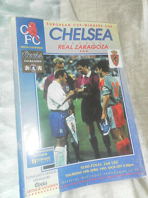 1995 Ecwc Semi Final Chelsea V Real Zaragoza