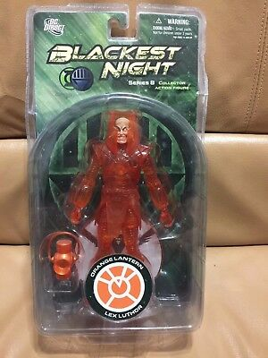 DC Direct Blackest Night Series 8 Orange Lantern Lex Luthor 6-Inch Action Figure