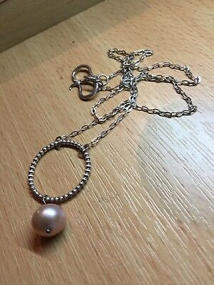 Lovely Freshwater Pearl & Sterling Silver Necklace
