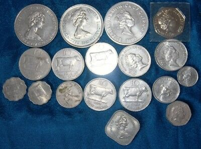 GUERNSEY  - 18 x Coin Mix - Some very low Issues inc + 5 Pounds