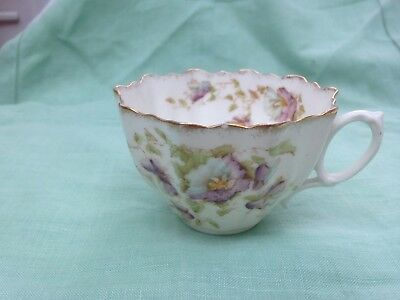ANTIQUE PARAGON STAR CHINA  Tea cup 1916, crenelated floral pattern 1812