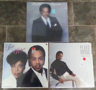 Peabo Bryson / Roberta Flack vinyl collection 1980s, 3 LPs very good++/excellent