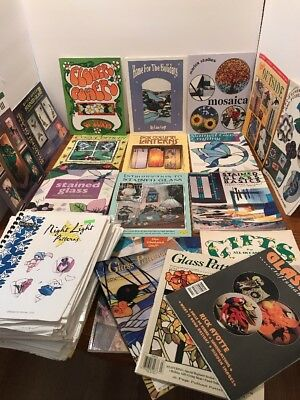 Stained Glass Books Patterns Magazines Huge Lot Beginner Advanced