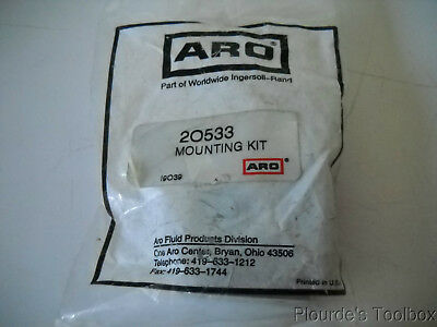 "New ARO 1-1/8"" Bore Cylinder Mounting Kit, ""L"" Brackets, 20533"