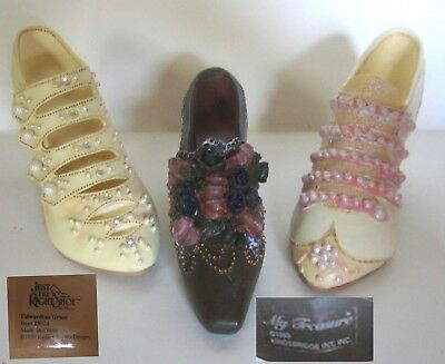 "3 Four "" Long Miniature Shoes 2 NIB I Just the Right Shoe"