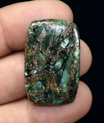 Top Most Demanded  28.55 Cts. Natural Copper Seraphinite Cab For  Silver Jewelry