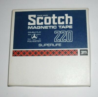 Scotch 3M Reel To Reel AUDIO TAPE 220 DOUBLE PLAY SUPERLIFE Tape