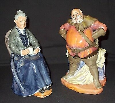 Royal Doulton - HN 2232 'THE CUP OF TEA' and HN 2054 'FALSTAFF' Figures