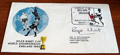 1966 World Cup First Day Cover Signed By Roger Hunt, Special Wembley Postmark
