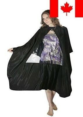 XMW Water Repellent Hair Cutting Cape With Observation Window Black01