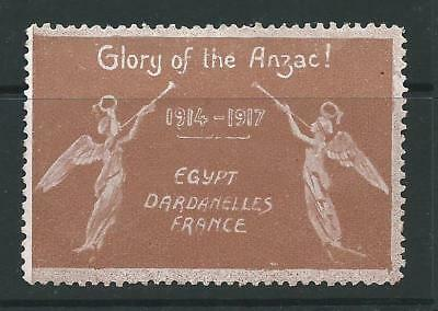 Vignette DELANDRE Glory of the ANZAC poster stamp Australia New Zealand ww1