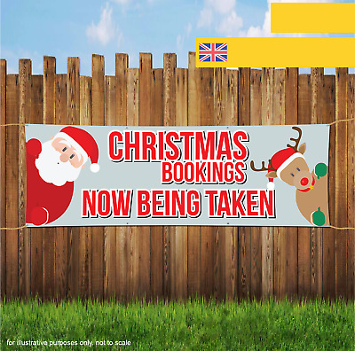 Christmas Bookings Now Being Take XMAS Outdoor Heavy Duty PVC Banner Sign 2067