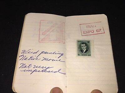 1967 Montreal Expo Notebook With Some Stamps & Country Ink Stamps