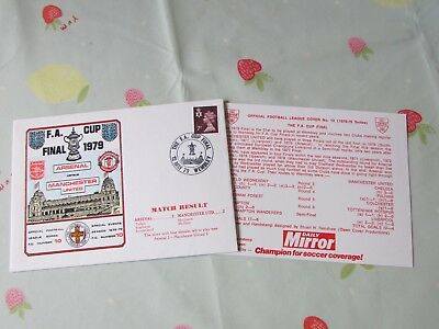ARSENAL v MANCHESTER United 1979 FA Cup Final Wembley FOOTBALL First Day Cover