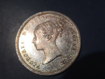 Victoria bun head  1874  silver MAUNDY groat 4d fourpence  nice condition