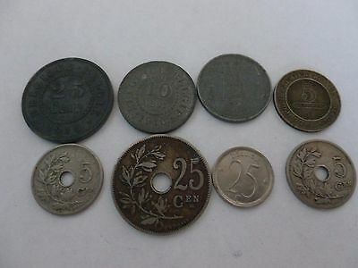 Very Nice Rare.mixed Lot Of Belgium Coins.very Collectable.lot.41