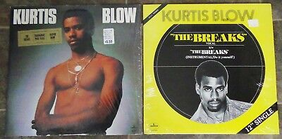 "Kurtis Blow LP and 12"" single 'The Breaks' 1980s - very good++"