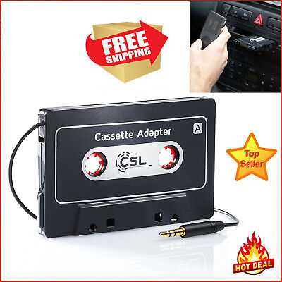 Cassette Tape Adapter Aux Cable Audio Cord 3.5mm Jack to MP3 iPod CD Player