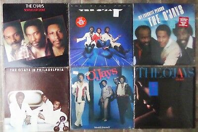 The O'Jays 1970s 1980s vinyl collection - 6 LPs - very good to very good++