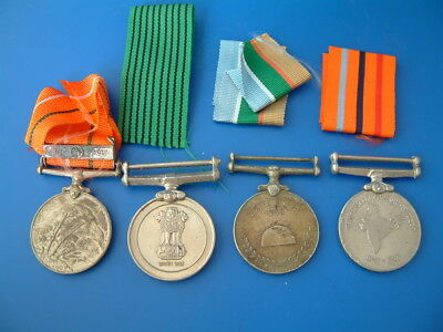4 Indian Medals, mid to late c20th - Packram, 50th Anniversary Independence 1997