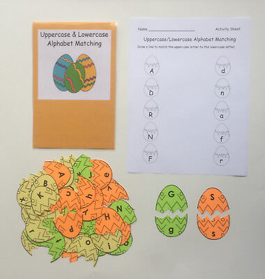 Teacher Made Literacy Center Game Uppercase & Lowercase Alphabet Matching