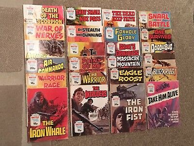 24 Battle Picture Library War Comics Fleetway Library
