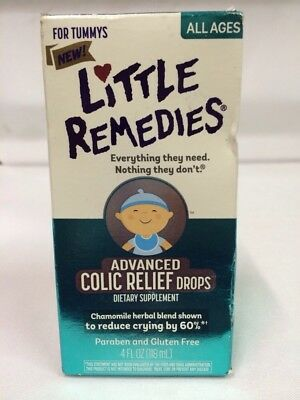 Little Remedies Advanced Colic Relief Drops 4 Oz For Tummys Of All Ages Exp 8/18