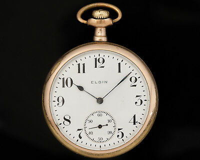 Antique Elgin 16s 7j Pocket Watch with Wadsworth Rambler Case! Circa 1920