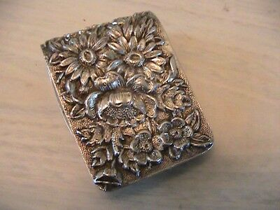 Antique KIRK & SON Inc. Sterling Silver Repousse Napkin Ring/Money Clip