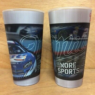 Miller Nascar Good Call Holographic 16oz. Acrylic Cups - Set Of 2 - NEW & F/SH.