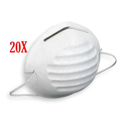 20pk Disposable Dust Masks for protection Against Dust - For DIY jobs