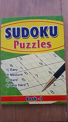 A4 Sudoku Book - 117 Puzzles - 4 Levels - Book Series 1 (P2107)