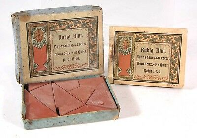 1880s RICHTER ANCHOR BLOCKS BOXED POCKET PUZZLE COMPLETE W/ SOLUTION BOOKLET #1
