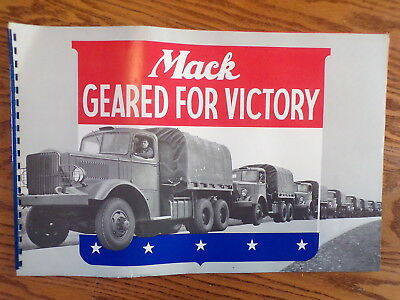 Vintage Mack Geared For Victory Magazine Book Wwii Era Military Truck