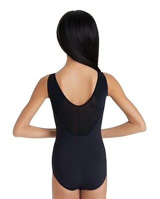8cc5979d3993 NEW LC LARGE Child (10-12) MC Black Tank Mesh Back Leotard Capezio ...