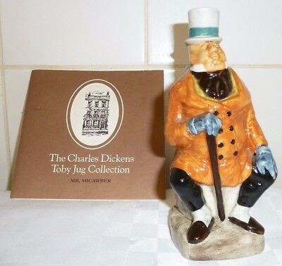 Franklin Mint Wood And Sons Charles Dickens Toby Jug Mr Micawber