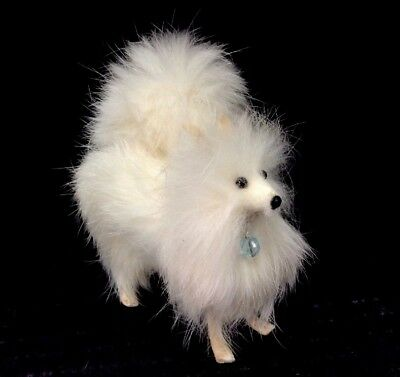 Antique German Fur Spitz Samoyed Dog French Fashion Doll Accessory Clean XLNT!!!