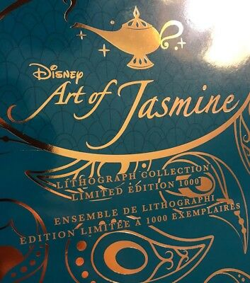 Lithographies Disney Store The Art of Jasmine Aladdin Neuf Affiche Poster Dessin