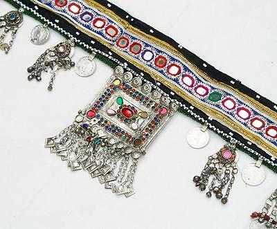 Kuchi Belly Dance Old Rare Banjara Beaded Guls Tribal Ethnic Hanging Belt Ats