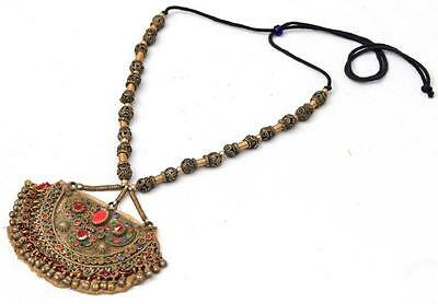 Tribal Banjara Kuchi Pendants Rare Belly Dance Boho Vintage Gypsy Necklace