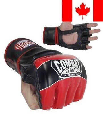 Combat Sports Pro-Style MMA Gloves, Red, Regular