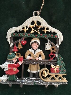 Pewter Hand Painted Christmas Ornament