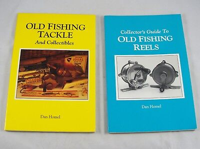 2 Antique Fishing Reference Books - OLD FISHING TACKLE & OLD FISHING REELS Homel