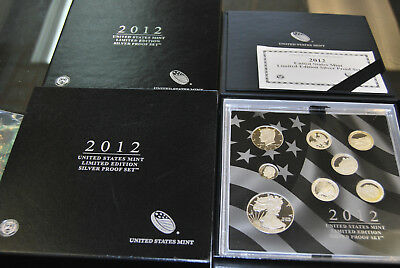 2012 US MINT LIMITED EDITION SILVER PROOF SET - Complete w/ Original Box and COA